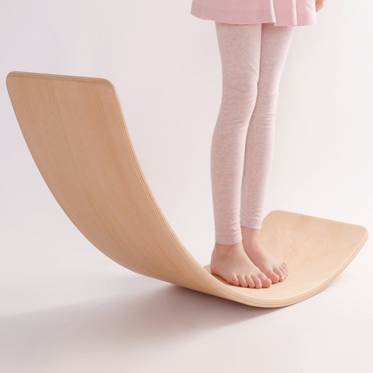 Wooden Children Toys Curvy Balance Board